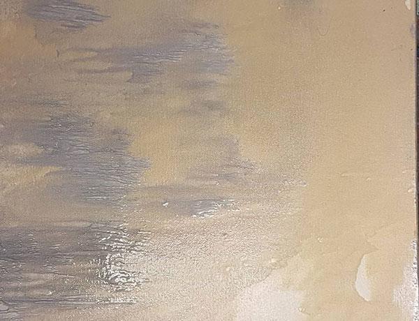 """""""Sandsturm"""" 2017 Acryl / Leinwand auf Keilrahmen 50/50"""